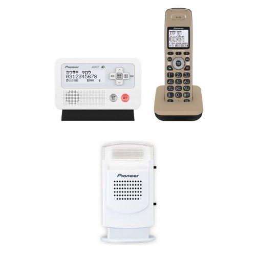 Pioneer デジタルコードレス電話機 子機1台付き キャメルブラック TF-FD30S-TK + Pioneer 電話機アクセサリー フラッシュベル ホワイト TF-TA21-W セット B01IH4C14S キャメルブラック 子機1台付き+フラッシュベルセット キャメルブラック