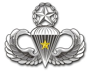 US Army Master 5 Combat Jump Wings Decal Sticker 3.8