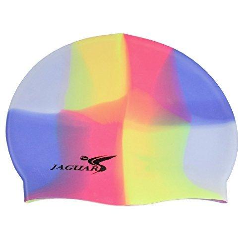 Adultes Multicolor stretch Bonnet de bain de natation en silicone Hat