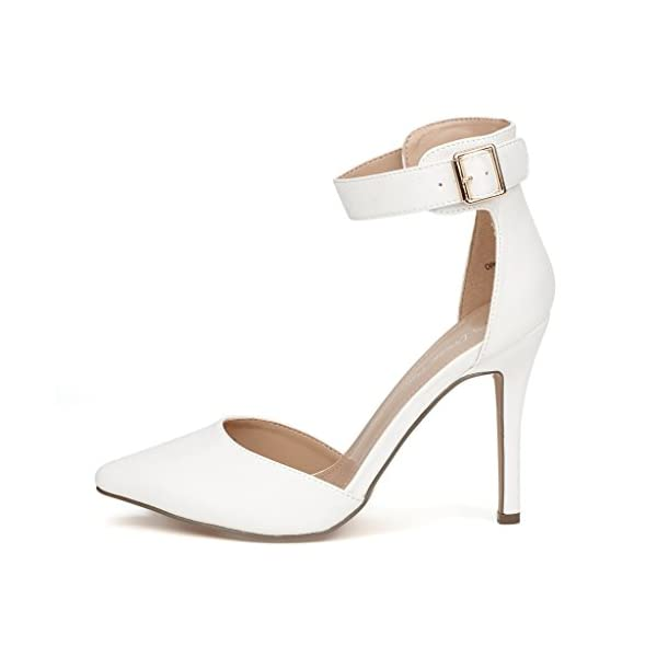 0f97259ba1652 DREAM PAIRS Oppointed-Ankle Women's Pointed Toe Ankle Strap D'Orsay High  Heel Stiletto ...