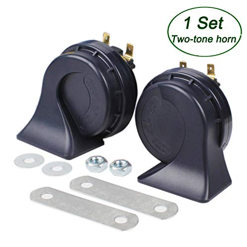 SoundOriginal DL168-A 500Hz Hight Tone and 400Hz Low Tone Car Hron 12 Volt Two Tone Electric Horn for Golf Truck Car Motorcycle etc. (Two-Tone)