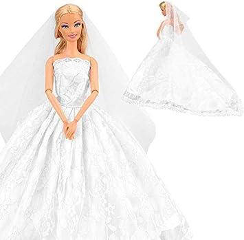 Immagini Di Vestiti Da Sposa.Miunana Vestito Abito Da Sposa Stile Principessa Per Festa Di Sera