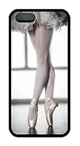 Beautiful Ballet Dancer Theme Case for IPhone 4s Rubber Material Black