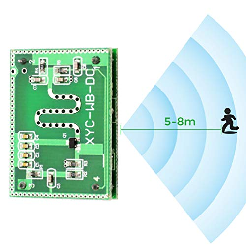 (WHDTS 2.25GHz Microwave Radar Detector Module Detection Range 6-9M Smart Sensor Switch Home Control 3.3-20V DC for Arduino)