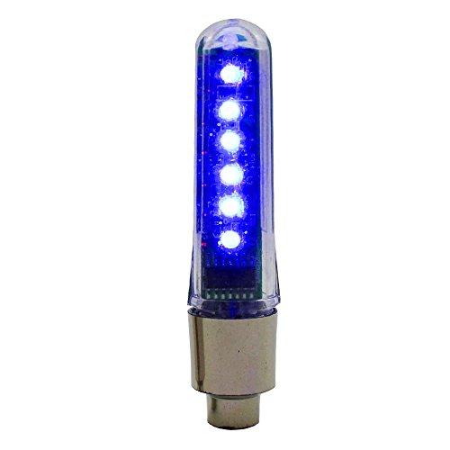 VANKER Rueda 1X a Prueba de Agua de luz LED Carta Bici del Coche de neum/ático de la Motocicleta de la decoraci/ón de la v/álvula Rojo