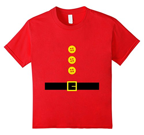 Gnome Costume Diy Girl (Kids Funny Christmas Elf Gnome Dwarf DIY Costume T Shirts 8 Red)