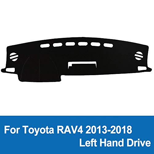 Black Naviurway 2nd Generation Anti-Slip Backing Custom Fit Dashboard Cover Dash Mat Carpet for Toyota RAV4 2013-2018