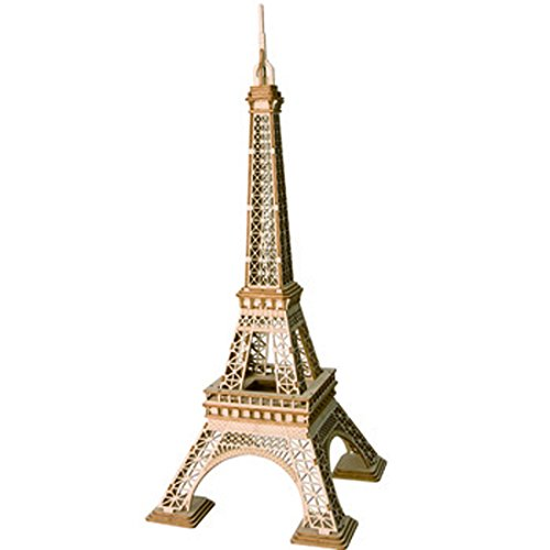 ROBOTIME Assembly Famous World Architecture Eiffel Tower Exquisite Wood Craft Kits for Kids Best Model Kits and DIY Arts Projects for Adults -