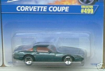 Mattel Hot Wheels 1996 1:64 Scale Green Flake Chevy Corvette Coupe Die Cast Car Collector #499 ()