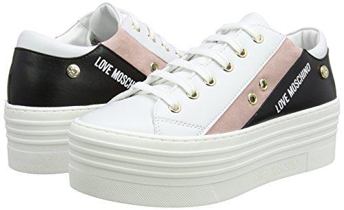 rsa isla Moschino black pink Love Zapatillas Para cro Multicolor white ner Mujer Vit Scarpad 60 bia EB1148qw