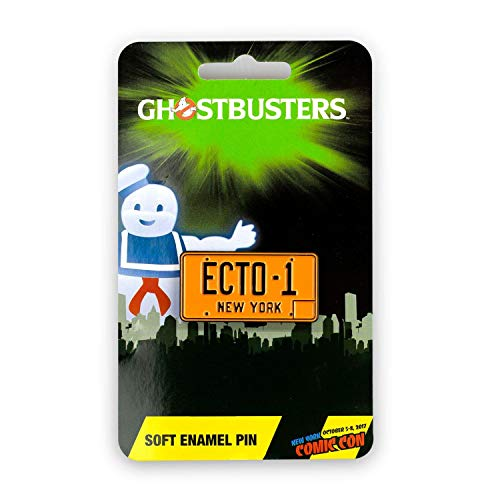 Collector Plates Collectibles - JUST FUNKY Ghostbusters Exclusive Ecto-1 License Plate Collectible Pin | Unique Collector's Pin for Ghostbuster Movie Fans