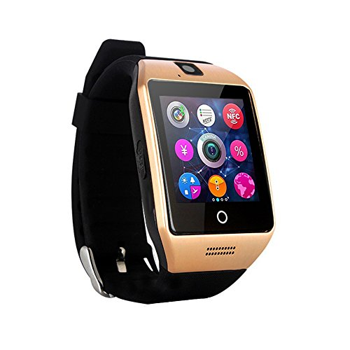 Smart Watch Phone Wireless Bluetooth Sweatproof Smartwatch with Camera Sleep Monitor Fitness Wrist watch for Android Samsung Galaxy S5 S6 S7 HTC Sony LG G3 G4 G5 Edge S8 Google Pixel Huawei (gold)