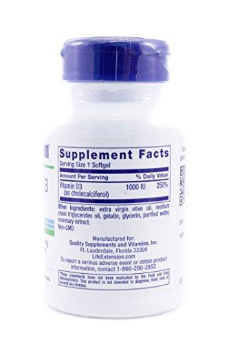 Vitamin D3 1,000 IU, 250 softgels-PACK-2