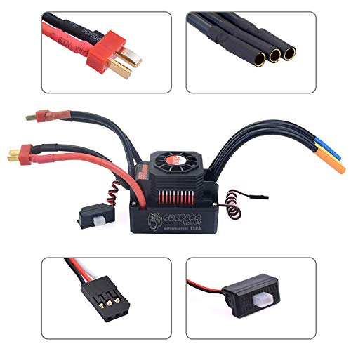 Surpass KK Series Waterproof Brushless 4068 2650KV Motor + 150A ESC +  Program Card for 1/8 RC Car