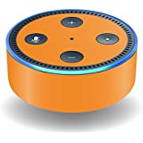 MightySkins Skin For Amazon Echo Dot (2nd Gen) - Solid Orange   Protective, Durable, and Unique Vinyl Decal wrap cover   Easy To Apply, Remove, and Change Styles   Made in the USA