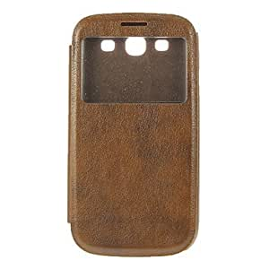YXF Skylight Design Protective PU Leather Pouches for Samsung Galaxy S3 I9300 , Brown