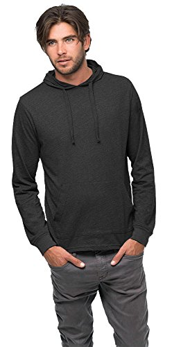 econscious Blended Eco Jersey Pullover Unisex Hoodie, Charcoal/Black, X-Large