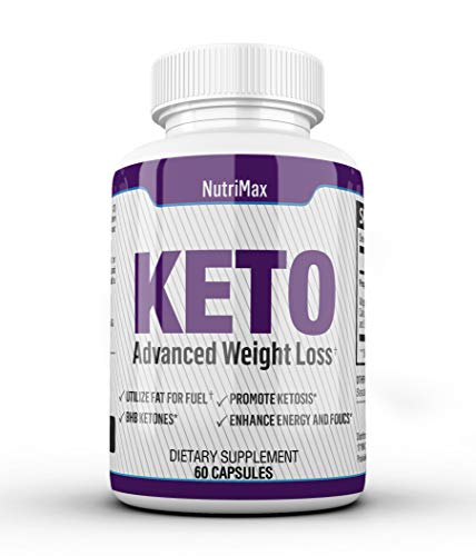 VitiMax Keto Pills - Weight Loss Fat Burner Supplement for Men and Women - Carb Blocker & Appetite Suppressant Formulated to Compliment a Ketogenic Diet - Keto Diet Pills Contains 60 Capsules
