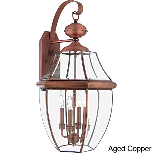 Quoizel NY8339Z  Newbury 4-Light Outdoor Lantern, Medici (Extra Large Outdoor Lantern)