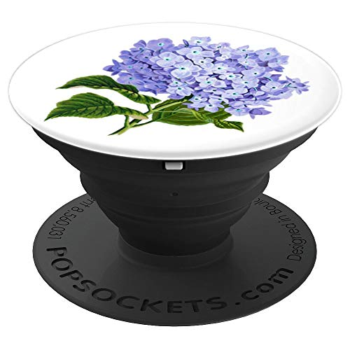 Purple Flower Bouquet Cell Phone Holder Pop Up Socket White - PopSockets Grip and Stand for Phones and Tablets (Knob Petal Design Flower)