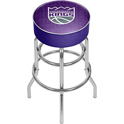 Trademark Gameroom NBA1000-SK3 NBA Padded Swivel bar Stool - City - Sacramento Kings