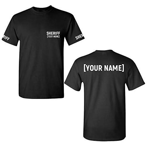 Custom Sheriff T Shirt - Law Enforcement Officer Tshirts - Deputy Uniform |