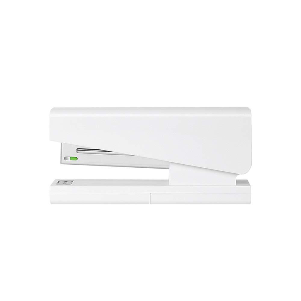 Stapler,Desktop Stapler,Standard Stapler,Office Stapler, 20 Sheet Capacity,Includes 100 Staples,Modern Minimalist Style,White AAA++ by HYXXQQ-stapler