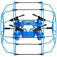 ZV-LS Mini Drone Aircraft Hand Throwing Climbing Wall Mini Quadcopter With Protective Frame Be Safe For Kids - Blue