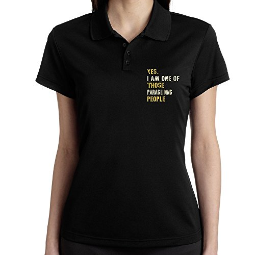 Teeburon YES I AM ONE OF THOSE Paragliding PEOPLE Polo Donna