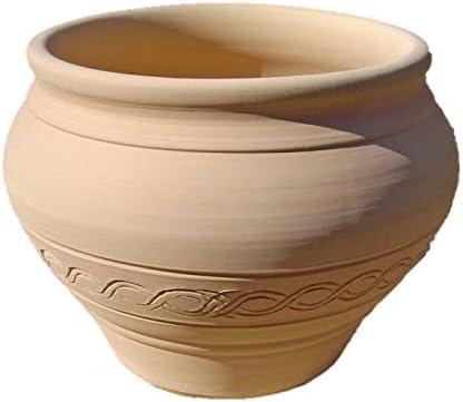 スペイン鉢 ダイアナデコレーション (24cm) 白い植木鉢 おしゃれ テラコッタ 素焼き鉢 陶器鉢 プランター 白色 白い鉢