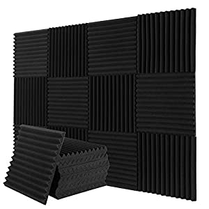 Donner 12-Pack Acoustic Panels Soundproofing ...