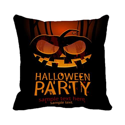 Batmerry Halloween/Thanksgiving Theme Decorative Pillow Covers 18 x 18 inch,Halloween Party Pumpkin Flyer Scary Horror Evil Disco Dance Music Throw Pillows Covers Sofa Cushion Cover Pillowcase