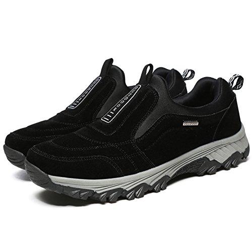 Gomnear Männer Lässige Schuhe Wanderstiefel Wildleder Draussen Gehen Atmungsaktiv Winter Turnschuhe Grey-41 cdz4gm0O