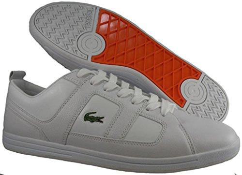 Lacoste Mens Osserva 3 Fz Lace Up Sneaker, Bianco / Arancio Persimone, 13 M