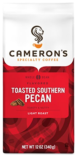 Cameron's Coffee Roasted Whole Bean Coffee, Flavored, Toasted Southern Pecan, 32 Ounce