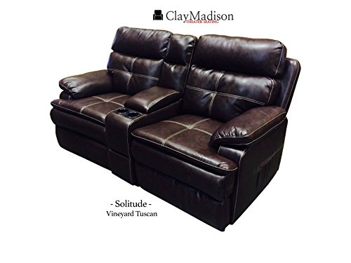 Solitude theater seats row of 2 vineyard tuscan home theater seating reviews and ratings Home theater furniture amazon