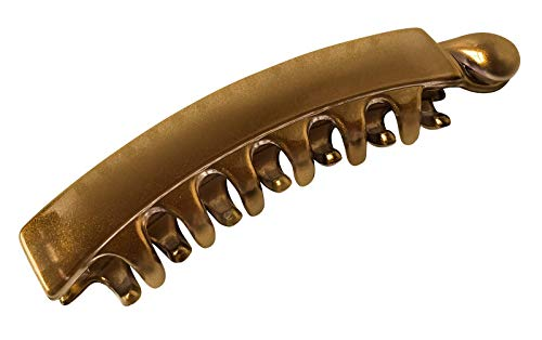 Zhooch Banana Hair Clip - Classic Ponytail Comb 3.75 inches. Iconic Hair accessory inspired by 80s trend. Inner Teeth, Premium quality, Strong Hold for Thin, Fine Hair. Made in Korea.