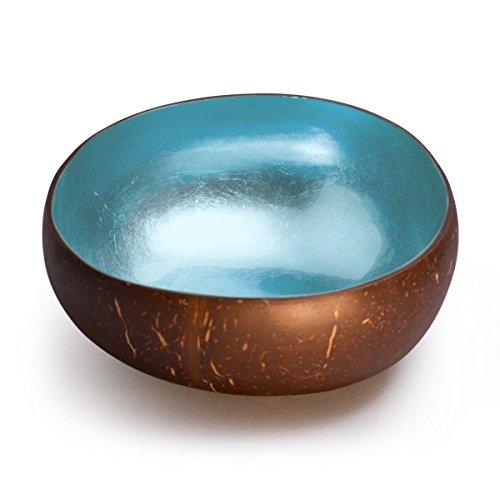 Cocobowl Shiny - Kokosnuss Schale / Dekoschale (himmelblau)