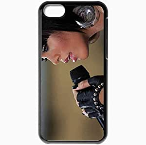 diy phone casePersonalized ipod touch 4 Cell phone Case/Cover Skin Rihanna Robyn Rihanna Fenty singer microphone Papp Laszlo Budapest Sport Arena Budapest concert brunette Music Blackdiy phone case