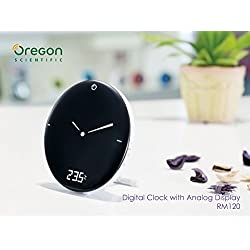 Radio Control Clock - Time & Weather Digital Alarm Clock - RCC Clock with Time, Calendar, Weekday, Dual Alarms, Indoor Temperature and Easy-to-read LCD Backlight Display Snooze Function Available
