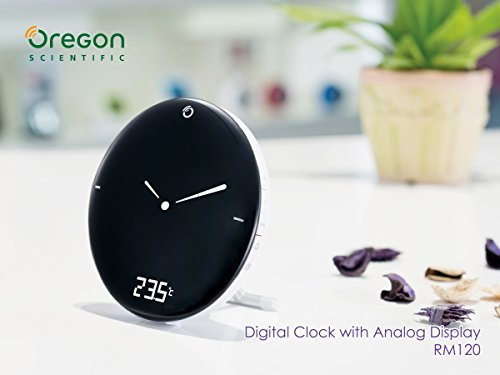 (Radio Control Clock - Time & Weather Digital Alarm Clock - RCC Clock with Time, Calendar, Weekday, Dual Alarms, Indoor Temperature and Easy-to-read LCD Backlight Display Snooze Function Available)