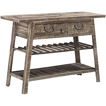 Amazon.com: HS 1 HSA-5004 - Mesa de sofá, color marrón ...