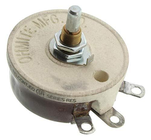 Ohmite 50 ohm 50W Wirewound Rheostat RJS50RE 0318 Model J High Power Single Turn Potentiometer Pot Variable Resistor Ceramic Open Frame
