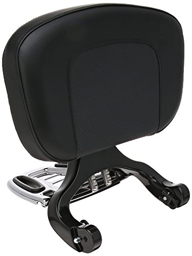 Kuryakyn Backrest Driver (Kuryakyn 1661 Black/Chrome Multi-Purpose Driver Passenger Backrest)
