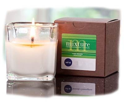 Mixture Whiskey Wood 5 oz Clear Soy Votive Scented Jar Candle