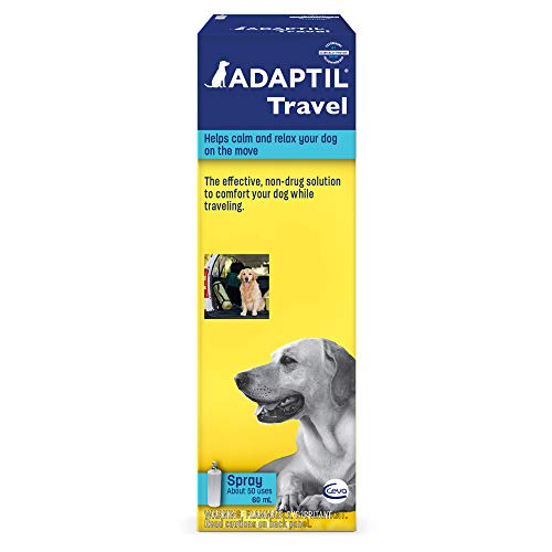 - Adaptil Travel Calming Spray for Dogs (60 mL) | Calming & Comfort During Travel
