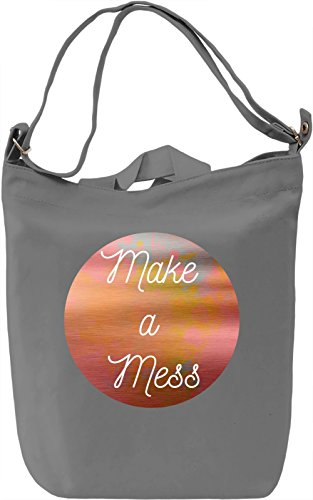 Make a Mess Borsa Giornaliera Canvas Canvas Day Bag| 100% Premium Cotton Canvas| DTG Printing|