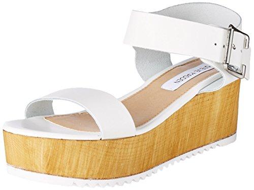 STEVE MADDEN NILE - Sandalias para mujer Bianco (White)