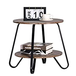 Vintage 2 Tiers Living Room End-Table Sm...
