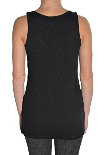 Puma Womens Sport Lifestyle Cat Boy Ribbed Tank Top Shirt Black